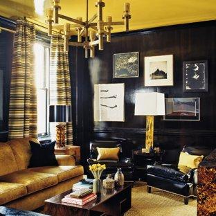 Black And Gold Living Room Ideas & Photos | Houzz