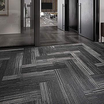China Carpet Tiles Nylon PP Strip Long Commercial Office Carpet