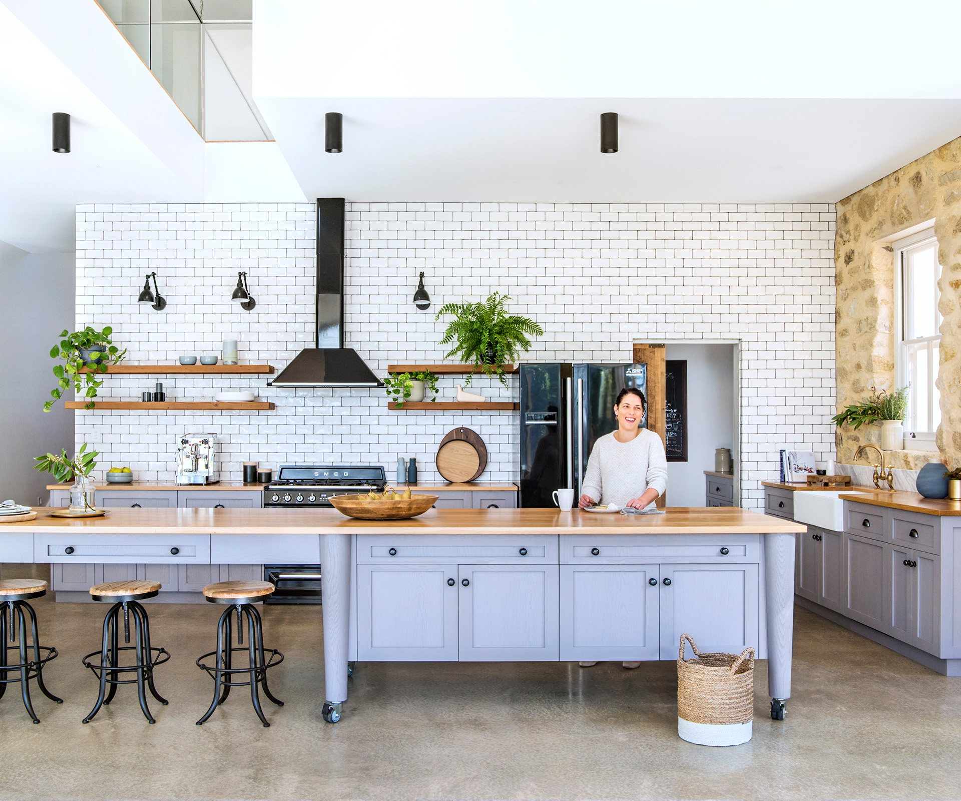 Open plan Country-style Kitchen | Australian House and Garden