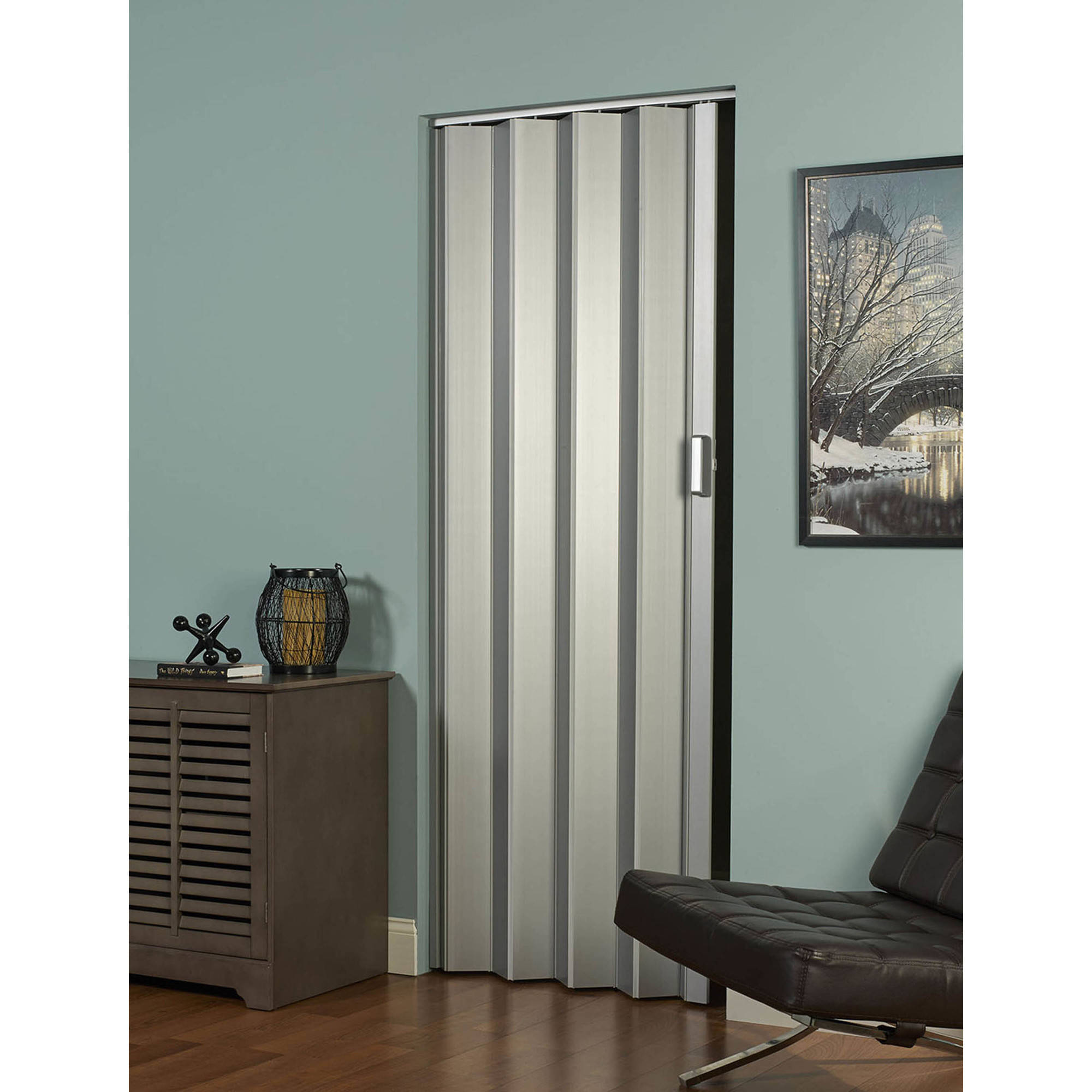 Elite Folding Door, Satin Silver - Walmart.com