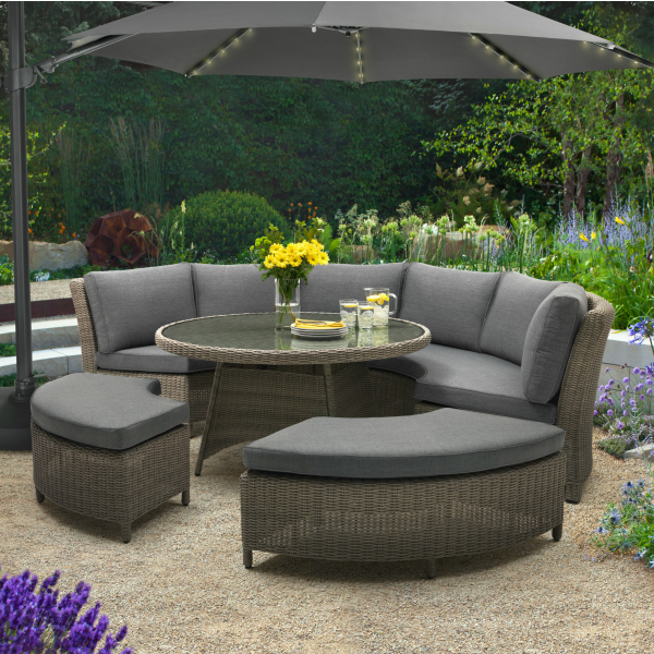 Wicker Garden Furniture Sets - Palma Round Set - The Garden House