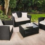 Garden furniture made of polyrattan