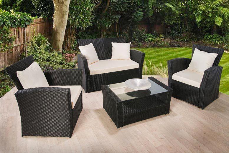 Garden furniture made of polyrattan