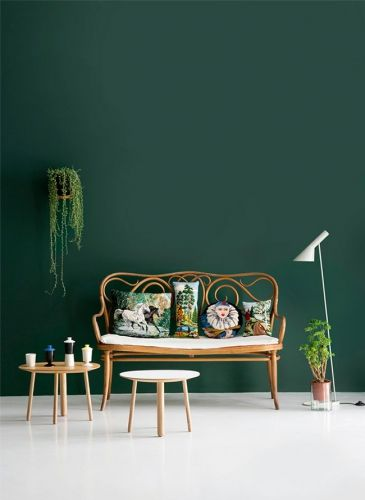 Inspirations déco avec du vert | Interior Design | Green painted