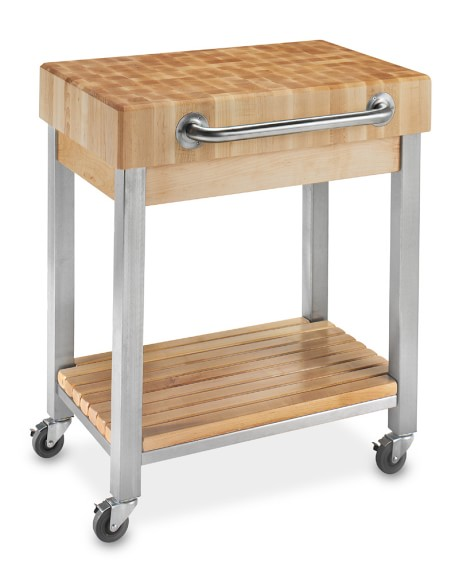 John Boos End-Grain Butcher Block Classic Kitchen Cart | Williams Sonoma