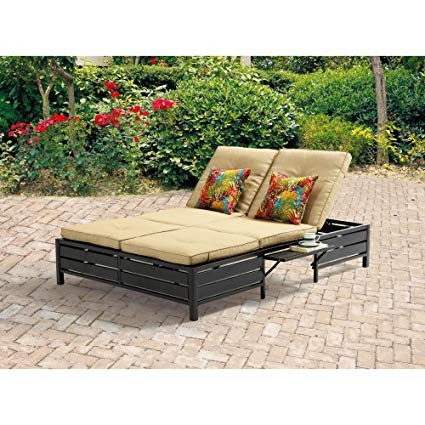 Amazon.com : Double Chaise Lounger - This red stripe outdoor chaise