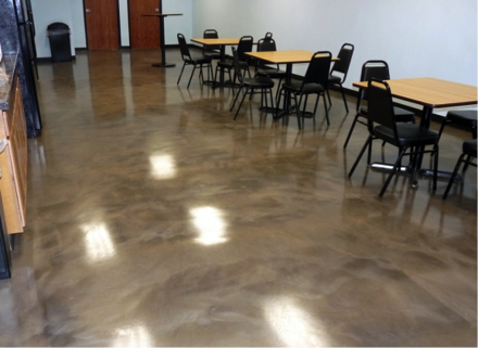 What is a metallic epoxy floor coating and its advantages?