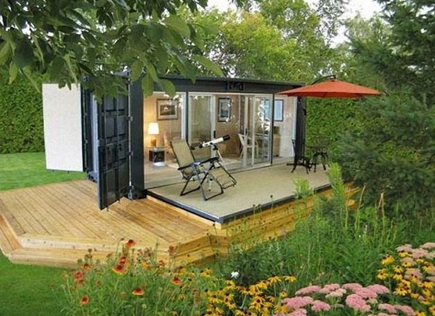 Beautiful Garden House Designs Adding Leaisure of Studio to Living