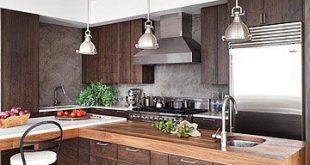 Modern Wood Kitchen - Walnut Kitchen Cabinets
