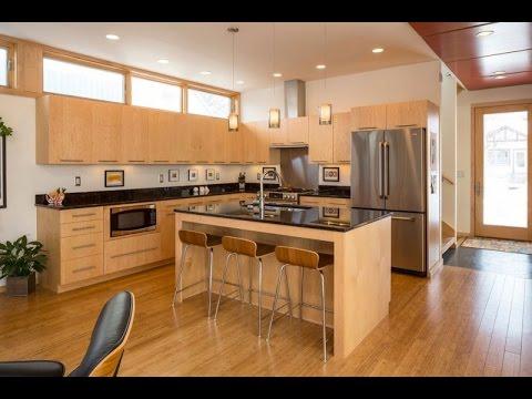 modern wooden kitchen - YouTube