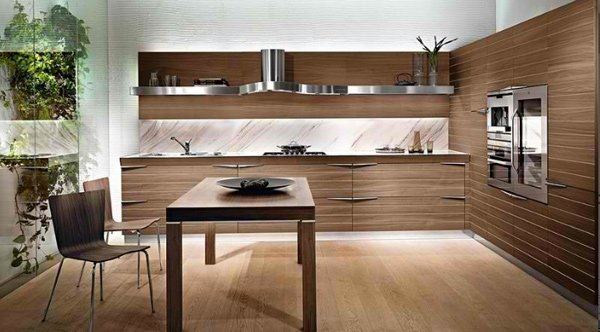 20 Sleek and Natural Modern Wooden Kitchen Designs | Home Design Lover