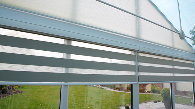 Controlling light with Vision blinds - Conservatory Blinds Ltd