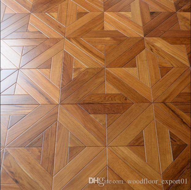 2019 Teak Laminate Wood Flooring, Parquet Flooring, Art Deco
