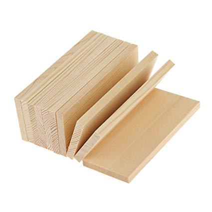 Amazon.com: Jili Online 10 Pieces Natural Pine Wood Rectangle Board