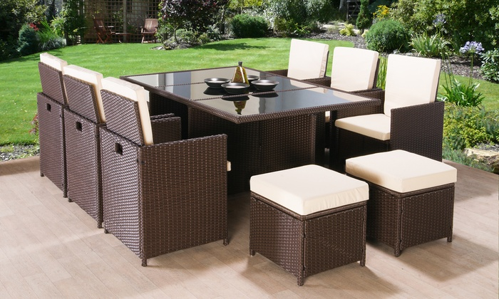 Poly-Rattan Garden Furniture Set | Groupon