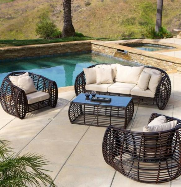 New Outdoor Garden poly rattan wicker sofa sets furniture for sale