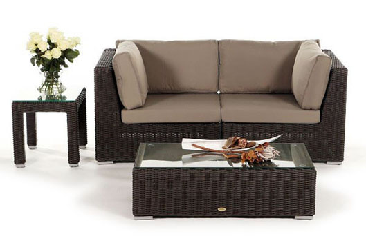 Small Poly-Rattan Lounge - Garden Furniture