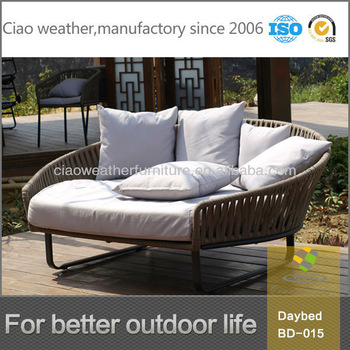Hot Sale Poly Rattan Outdoor Daybed Sofa Lounge Furniture - Buy