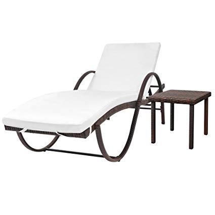 Amazon.com : Daonanba Garden Lounge Chair Outdoor Sun Lounger Poly