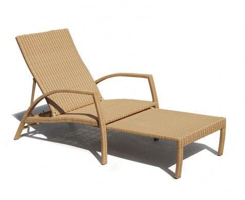 Monaco Outdoor Rattan Sun Lounger | Premium Garden Sun Loungers