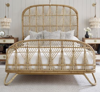 Rattan Bed- holiday atmosphere in the bedroom