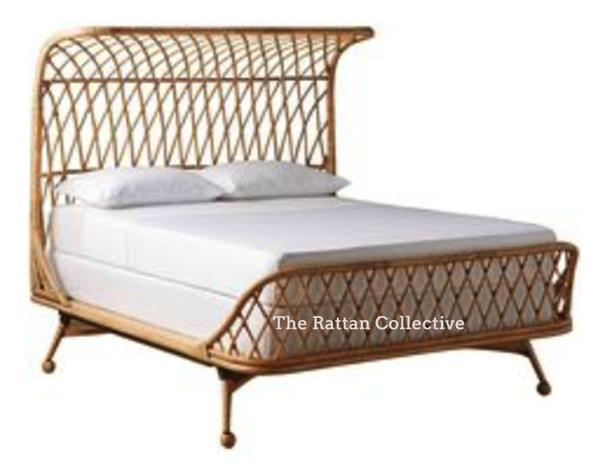 Elements handmade rattan bed contemporary design piece Byron Bay