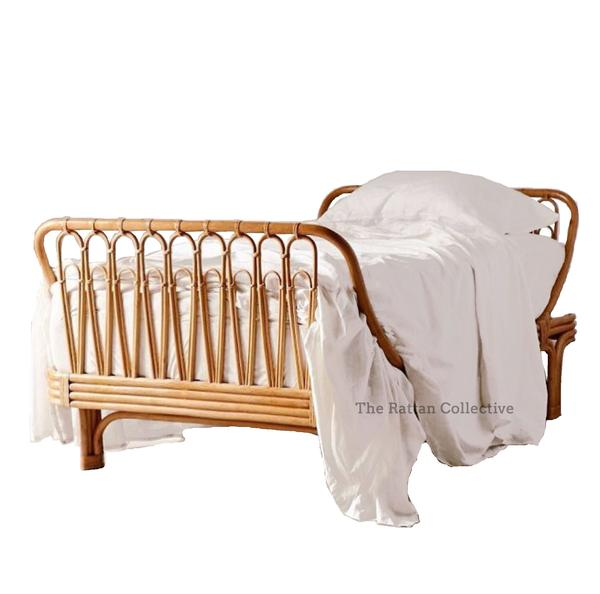 Rattan bed - Fleet. Stunning kids single bed, daybeds, queen and