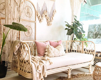 Rattan bed | Etsy