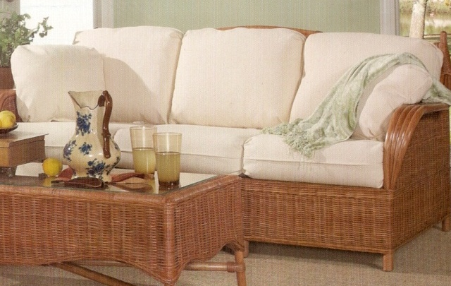 Rattan Sleeper Sofa - Siesta Key