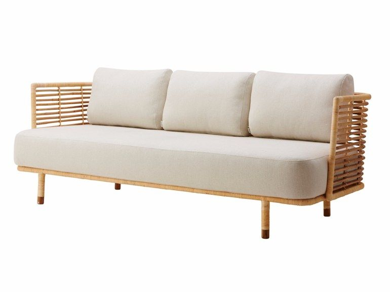 3 seater rattan sofa SENSE by Cane-line design Foersom | amy's too