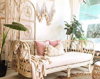 Rattan sofa | Etsy