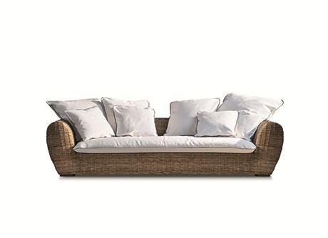 Rattan sofa INOUT 623 InOut Collection By Gervasoni design Paola Navone