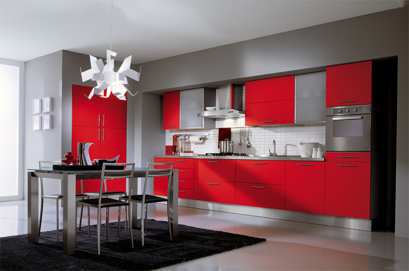 Red kitchens