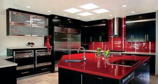 Red & Black Kitchen. WOW | INTERIOR DESIGN - KITCHENS | Black, red