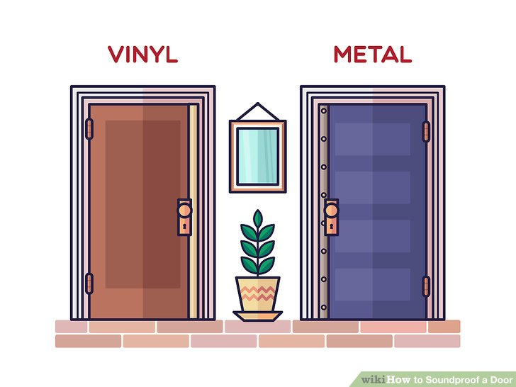 3 Ways to Soundproof a Door - wikiHow