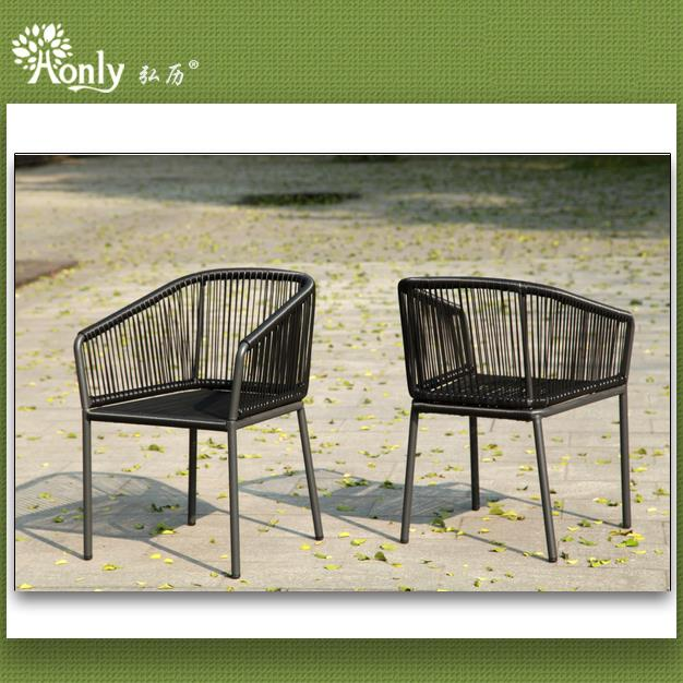 Synthetic rattan terrace chairs