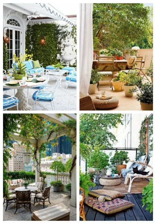 Terrace design in spring