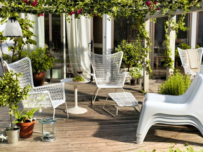 IKEA Garden Furniture For A Small Oasis Of Terraces! | Hum Ideas