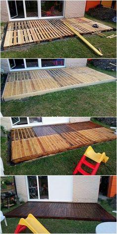 Pallet Wood Deck Plans | Home Improvement | Pinterest | Pallet