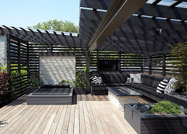 Chicago Modern House Design - amazing rooftop patio | Rooftop Patios