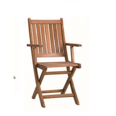 Chair folding wood tropical | Chair for garden and terrace