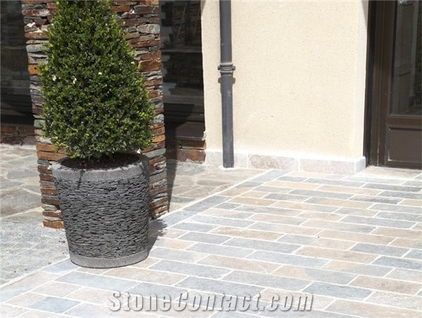 Pierre De Causses Limestone Terrace Floor Paving Slabs, Beige