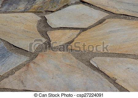 Terrace slabs.