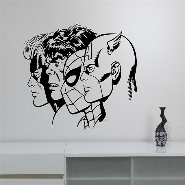 New arrival Superheroes Wall Decal Removable Vinyl Wall Sticker