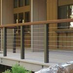 Wooden balcony railings