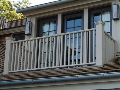 Cellular PVC Pendleton Railing | Commercial and Residential Solid