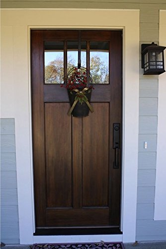Custom Made Double Exterior Front Entry Single Wooden Glass Door