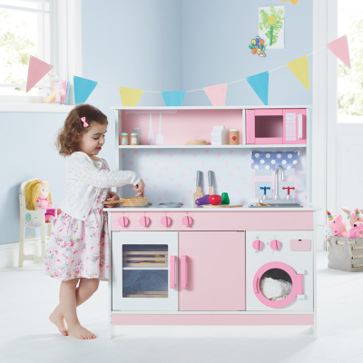 Pink Wooden Kitchen | Toys & Character | George
