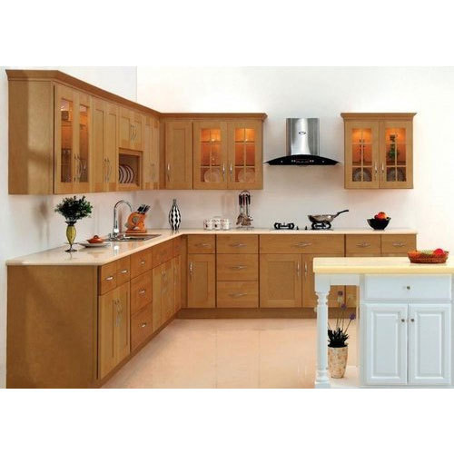 Wooden Kitchen Cabinet at Rs 2400 /square feet | Solid Wood Kitchen