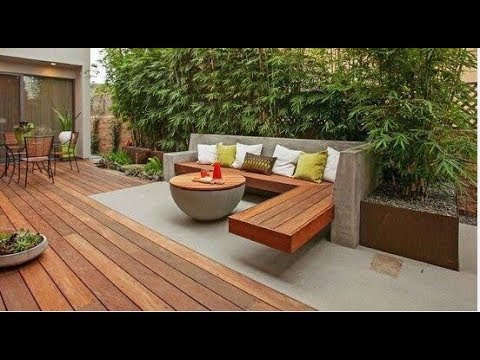 ? Outdoor Wooden Terrace. ? Organization Of Recreation Area In The